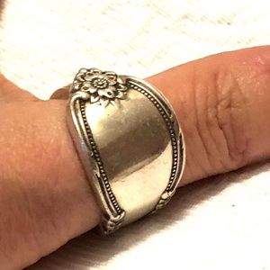 Sterling Silver 1848 Roger & Bros   Ring Size 12